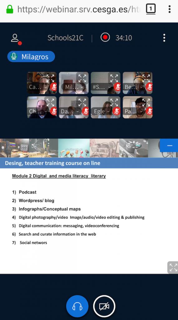 Gravación de reunións ou clases por videoconferencia